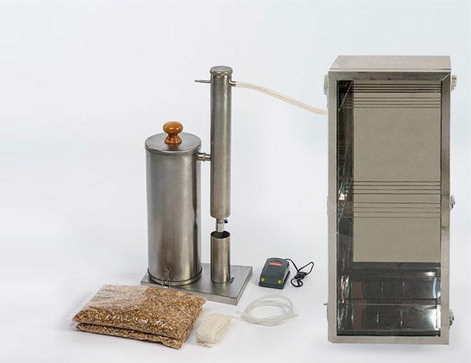 Комплектация с шкафом из нержавейки дымогенератора Ханхи 2